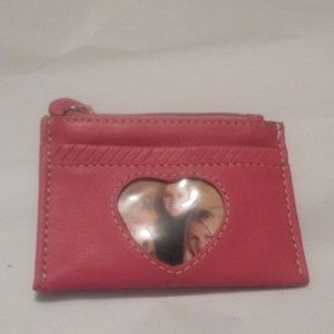Brighton all Leather Coin/Card Case- Pink